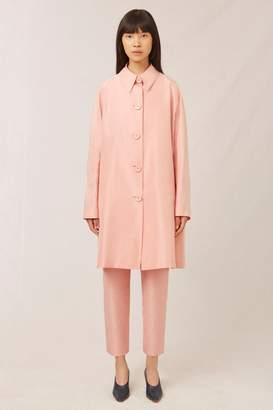 Mansur Gavriel Taffeta Elegant Coat - Blush