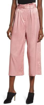 The Fifth Label Lotti Paperbag Waist Wide Leg Crop Pants