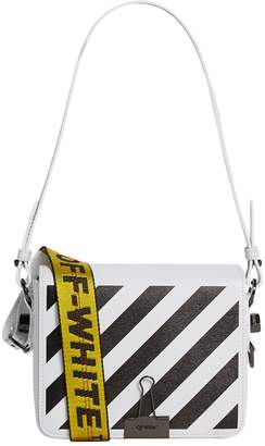 Off-White Off White Mini Leather Stripe Shoulder Bag