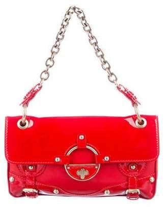 Versace Leather Flap Shoulder Bag