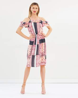 Dorothy Perkins Tile Print Midi Dress