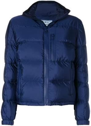 Prada zip up padded jacket