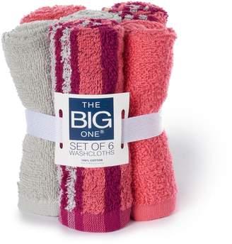 The Big One 6-pack Washcloth Set