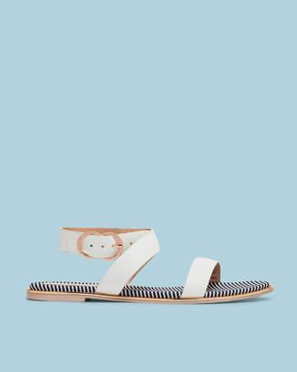 Ted Baker QEREDA Flat cross strap leather sandals