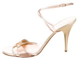 Giuseppe Zanotti Metallic Ankle Strap Sandals