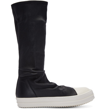 Rick Owens Black Sock High-Top Sneakers $1,655 thestylecure.com