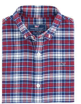 Vineyard Vines Boys Tower Ridge Flannel Whale Shirt