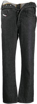 Diesel Red Tag foldover waist jeans