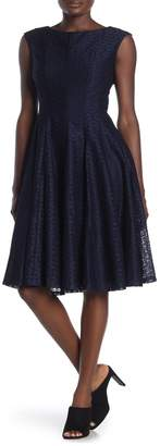 Gabby Skye Sleeveless Lace Knee-Length Dress