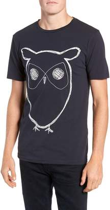 Knowledge Cotton Apparel KnowledgeCotton Apparel Big Owl Print T-Shirt
