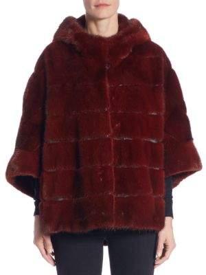 The Fur Salon Hooded Mink Coat
