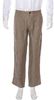 Mason Linen Straight-Leg Pants