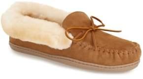 Minnetonka 'Alpine' Genuine Shearling Moccasin Slipper