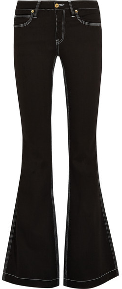Burberry Burberry - Mid-rise Flared Jeans - Black