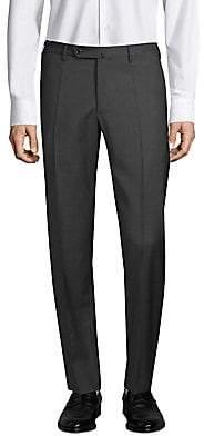 Incotex Men's Matty Straight-Fit Micro Check Wool Trousers