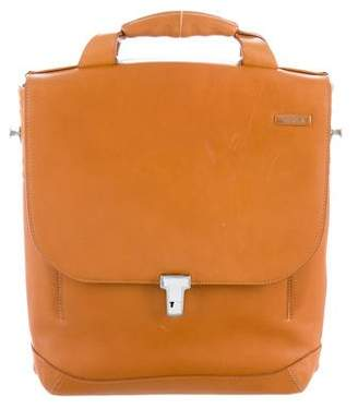 Tumi Doriton Leather-Trimmed Briefcase