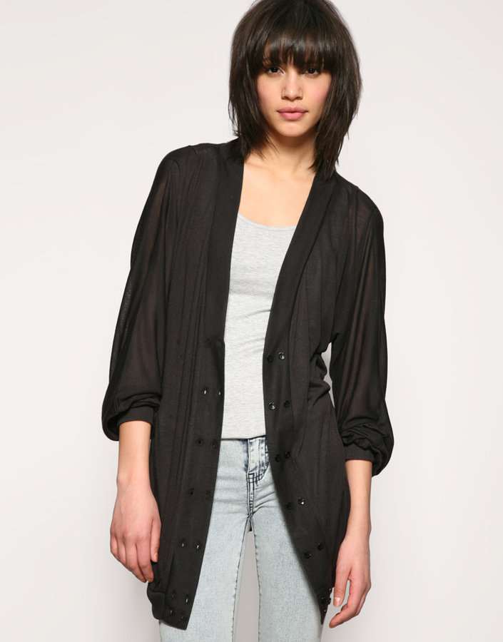 Vero Moda Double Button Oversize Fine Cardigan