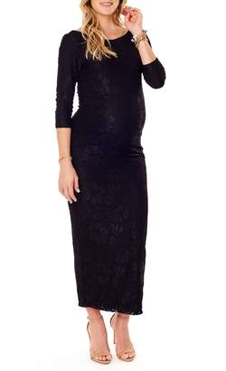 Ingrid & Isabel R) Lace Column Maternity Maxi Dress