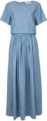 Chloé chambray dual midi-dress