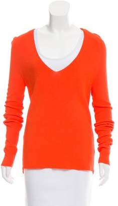 A.L.C. V-Neck Rib Knit Sweater