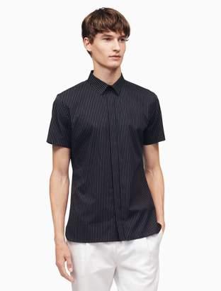 Calvin Klein classic fit dotted pinstripe shirt