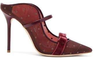 Malone Souliers Marguerite Mesh Mules - Womens - Burgundy