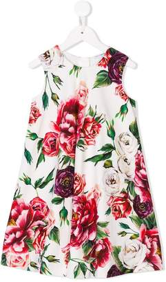 Dolce & Gabbana floral print flared dress