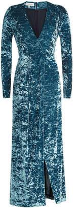 Galvan Velvet Wrap Dress