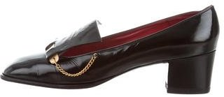 Christian Dior Patent Leather Square-Toe Pumps