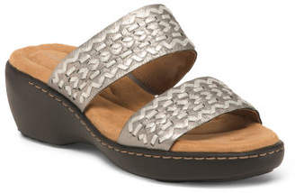 8423fbfe03e1 at TJ Maxx · Woven Leather Comfort Wedge Sandals