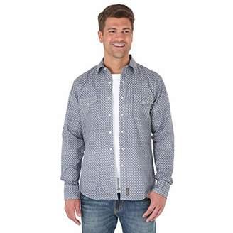 ba5c939623b Wrangler Men s Big   Tall Retro Two Pocket Long Sleeve Snap Shirt