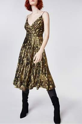 Nicole Miller Foiled Camo Dress