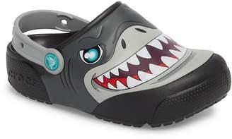 Crocs TM) Fun Lab Light-Up Shark Slip-On