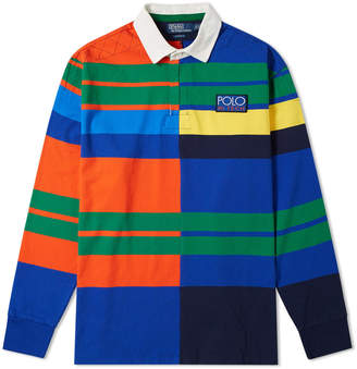 Polo Ralph Lauren Long Sleeve High-Tech Multi Stripe Rugby Shirt