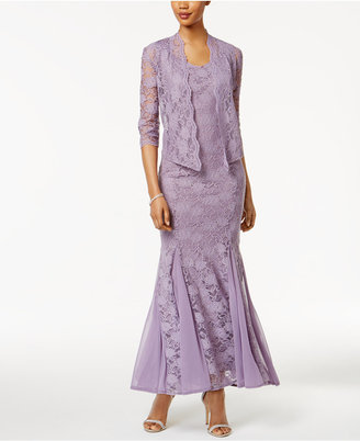R & M Richards Petite Lace Gown and Jacket $139 thestylecure.com