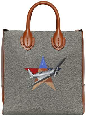 Blend of America Cotton & Leather Tote Bag