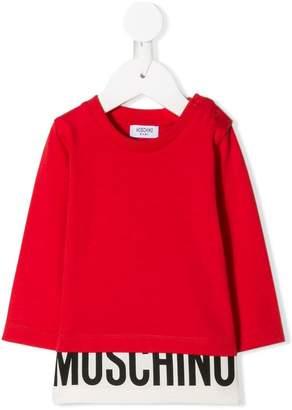 Moschino Kids logo printed sweatshirt