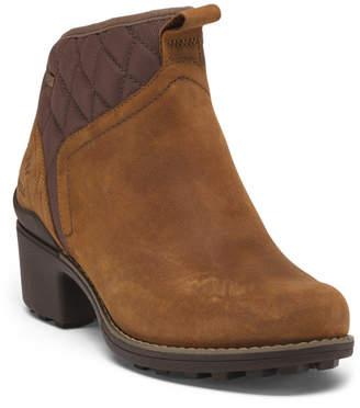 Waterproof Full Grain Leather Lug Sole Pull On Boots