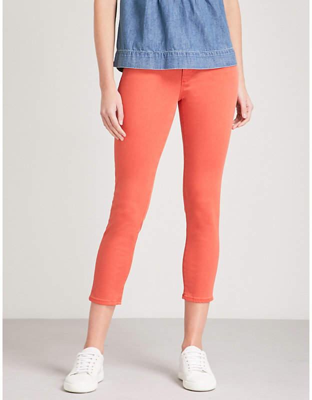 The Prima Crop slim mid-rise jeans