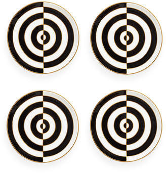 Jonathan Adler Op Art Porcelain Coasters - Black/White - Set of 4