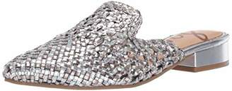 Sam Edelman Women's Clara Mule Silver/Pewter Metallic Leather 8.5 M US