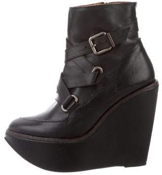 Robert Clergerie Platform Wedge Booties