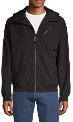 Michael Kors Hooded Faux Shearling Jacket
