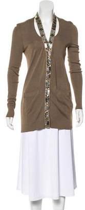 Lanvin Embellished Silk Cardigan