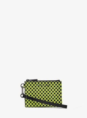 MICHAEL Michael Kors Checkerboard Logo Leather Coin Purse