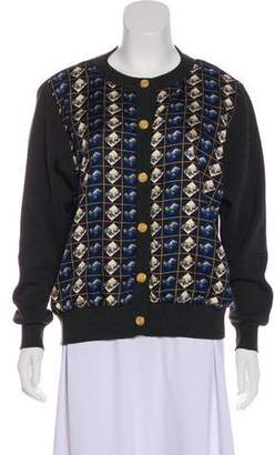 Burberry Wool Printed Cardigan