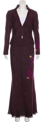 Christian Lacroix Embroidered Skirt Suit
