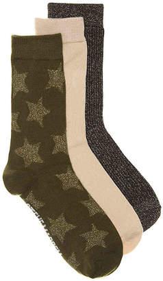Steve Madden Stars Crew Socks - 3 Pack - Women's