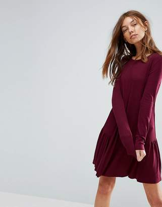 Pull&Bear Frill Hem Mini Dress