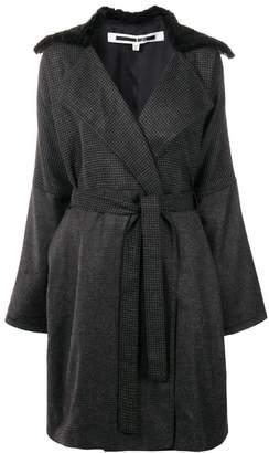 McQ pied-de-poule belted coat